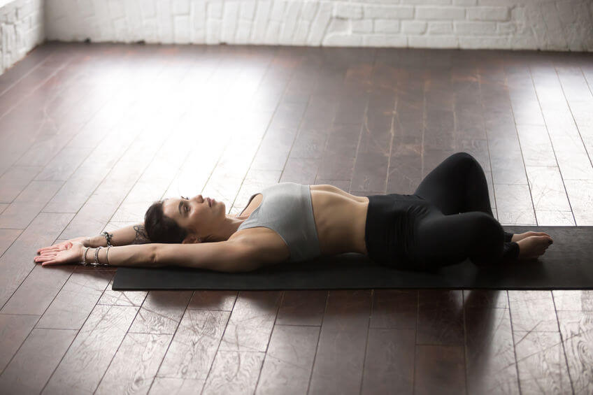 reclining bound angle pose | Unify Health