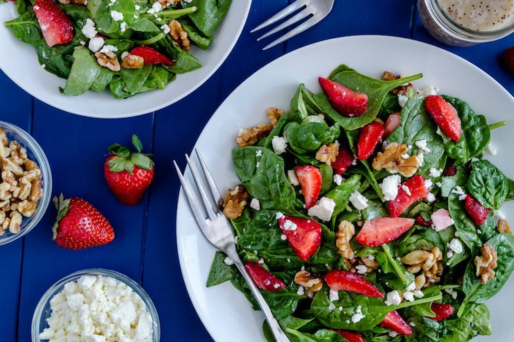 Delicious Salad Recipe: Spinach Salad With Strawberries